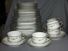 Haviland Genevieve Set SIX Place-Settings -Pastel Roses - Pink/Yellow/Blue S539A