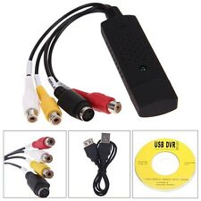 USB a 3 RCA audio video Tv Vhs Dvd Rw captura Convertidor Pc Adaptador NUEVO
