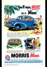 """1955 MORRIS MINOR BMC AD A1 CANVAS PRINT POSTER 33.1""""x23.4"""""""