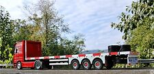 SUPERB FLATBED Trailer MNtrailers 1:18 for Mercedes Actros Eligor or Peterbilt