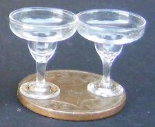 1:12 Escala 2 Copas De Champaña Casa de muñecas en miniatura bebida Accesorio gla12