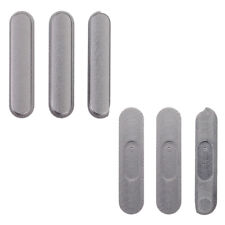 Para Apple iPad Air 2 Metal Power Volumen Side Botón Key Set Negro Gris 6th Gen