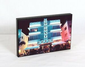 "Colony Hotel South Beach Photograph 12"" x 8"""