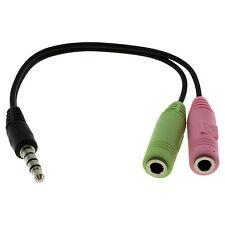 Audiokabel 2x3,5mm Klinken-Buchse auf 3,5mm Klinken-Stecker Stereo (PC-Headset)