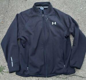 Under Armour Black Full Zip -Multi Pockets- Long Sleeve Jacket Mens Large