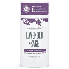 Schmidt's DEODORANT Lavender Sage All-Day Protection Wetness Relief 3.25oz STICK
