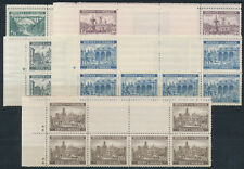 Böhmen + Mähren Bauwerke 1940** Stegpaare + Kreuzsternchen Michel 57-61 (S15482)