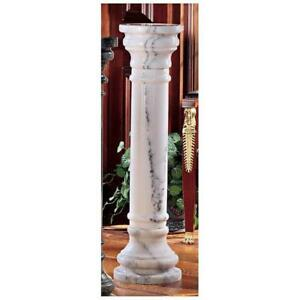 """PO8040W - Solid Marble Columns: White - Large 40"""" Tall"""