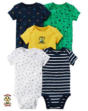 Carter's Bodysuits 5-Pack Short Sleeve Set Newborn Size Authentic and Brand New