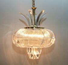 DRAMATIC STUNNING UNUSUAL IMPRESSIVE ABSTRACT DESIGNED LUCITE CHANDELIER (DOS)
