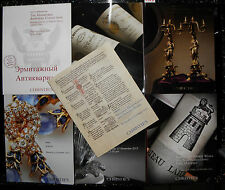 ** Christies catalogue collection x 7, lalique. wines, books etc,  f127