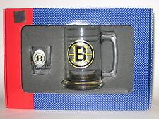 Boston Bruins Glass Tankard Mug & Shot Glass Boilermaker Set