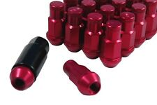 """Performance Lightweight Racing Lug Nuts Set Red 1/2""""-20 Thread Size 50mm Long"""