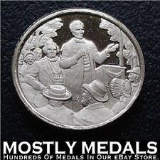 Franklin Mint Sterling Silver Mini-Ingot: 1858 Lincoln-Douglas Debates