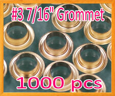 """1000 #3 7/16"""" Grommet and Washer Brass Eyelet Grommets Machine Sign Punch Tool"""
