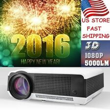 5000lumens Android 4.4 LED86 LCD Projector 3D Full HD 1080P Lamp HDMI Video USA