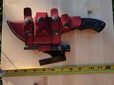 Handmade Damascus Tracker Knife - Micarta Handle (knife show sample)