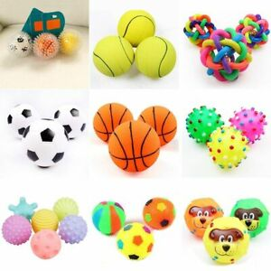 Squeaky Toy Pet 1 Pc Diameter 6 CM Dog Ball Small Rubber Chew Puppy Stuff Cat