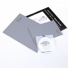 "Mennon 18% Gray +Pure White Balance Card Double Face Focus Board 8x6"" + 6x4"""