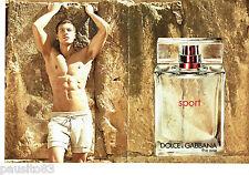 PUBLICITE ADVERTISING 1016  2012 Dolce & Gabbana eau toilette (2p) Sport homme *
