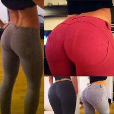 Damen Hohe Taille Slim Stretch Leggings Hosen Jeggings Treggings Jeans Sporthose