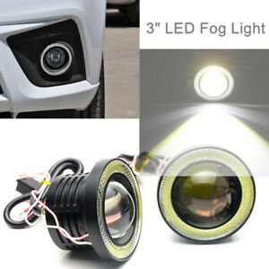 """2X 3"""" Fog Light Powered By COB Power LED For Halo Rings Super Bright Save Energy"""