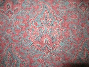 Ralph Lauren Meredith Paisley Red blue Sheet Twin FITTED & Flat set