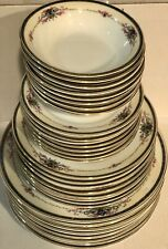 Vintage Royal Schwarzburg Germany Porcelain 32 Plates Dinnerware Set
