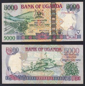 Uganda 5000 shillings 2005 BB/VF  A-10