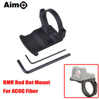 Aim-O Tactical Airsoft Red Dot Mount for ACOG 4x32 TA31 Red Fiber Illuminated BK