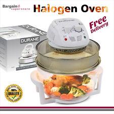 Safe 12L - 17L Durane Halogen Oven Extender Ring Timer Temperature Control 1400W