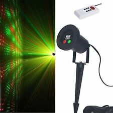 Moving RED and Green 2 Color Laser Landscape Projector Light w/ Remote, Laser Be