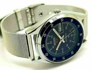 seiko 5 automatic men's railway time 6309 day/date vintage japan watch run