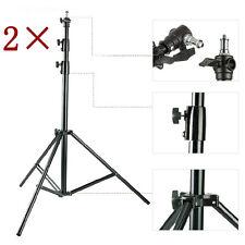 S3ax2 COPPIA HEAVYDUTY Supporto Luce Studio 300cm 10ft aria imbottite di alta qualità 3met