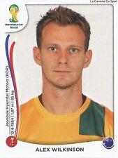 N172x ALEX WILKINSON # AUSTRALIA STICKER TRANSFERT PANINI WORLD CUP BRAZIL 2014