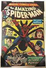Marvel Bronze Age Spiderman Punisher Comic Cover #135 Wood Wall Art 13x19