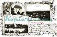 AK Łagów (Powiat Świebodziński)(Lagow)Altes Stadttor, Schloss,Kirche,1903, 18/02