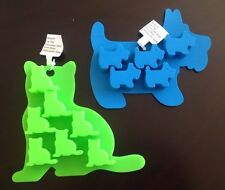 Cat AND Dog Silicone Ice Cube Tray Chocolate Mold NWT
