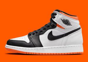 Nike Air Jordan 1 Retro High OG GS SZ 5.5Y White Black Electro Orange 575441-180