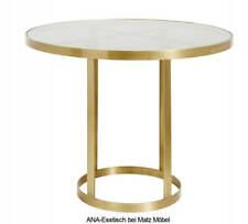 ANA-Runder Esstisch rund gold Metall-dunkles Glas, Designer Tisch bei Matz-Möbel