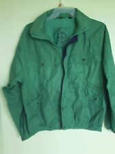 Mens North Bay World Class Vintage Green Light  windbreaker Jacket Sz  Large