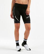 New 2XU Women Compression Steel X Cycle Short w Chamois Cycling Shorts