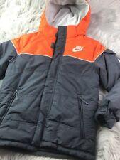 Nike Youth Sz S Small 8 Reversible Fleece Puffer Gray Orange Cream Ver Nice!