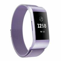 Lilac US Stainless Steel Loop Wrist Band For Fitbit Charge 3 / Charge3 SE Women