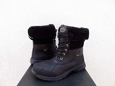 UGG BUTTE BLACK WATER-PROOF LEATHER WINTER SNOW BOOTS, MEN US 11,5/ EUR 45 ~NIB