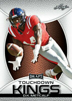 "D.K. METCALF 2019 LEAF ""1ST EVER PRINTED"" TOUCHDOWN KINGS ROOKIE CARD!"