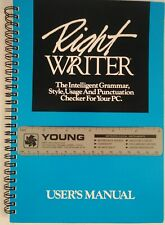 Vintage 1988 RightWriter Version 3.0 User's Manual for IBM and compatibles