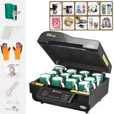 3D Vacuum Sublimation Heat Press Machine Kit For Phone Case Mug Cups Printing US