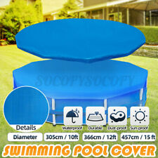 New listing 10/12/15ft Swimming Pool Cover PE Dustproof Protection Mat For Outdoor