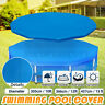 10/12/15ft Swimming Pool Cover PE Dustproof Protection Mat For Outdoor